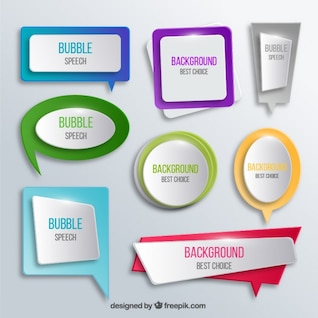 Bright speech bubbles collection