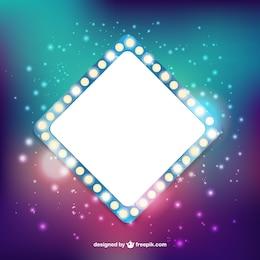 Bright square banner