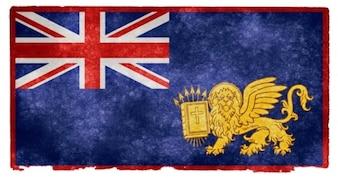British ionian islands grunge flag