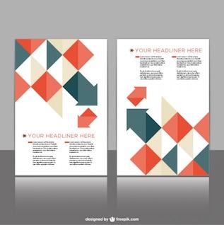 Brochure design free vector