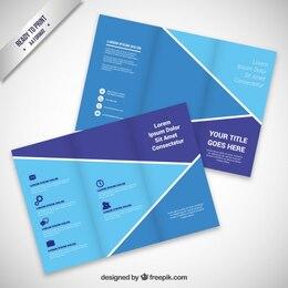 Brochure design in blue tones