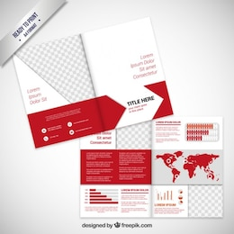 Brochure design in red tone