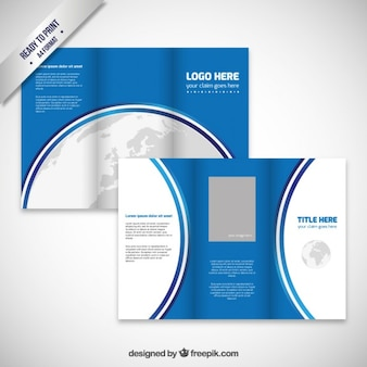 Brochure design with earth