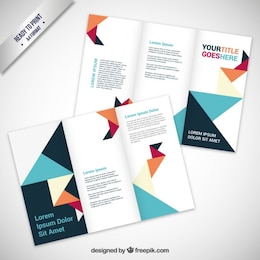 Brochure in origami style