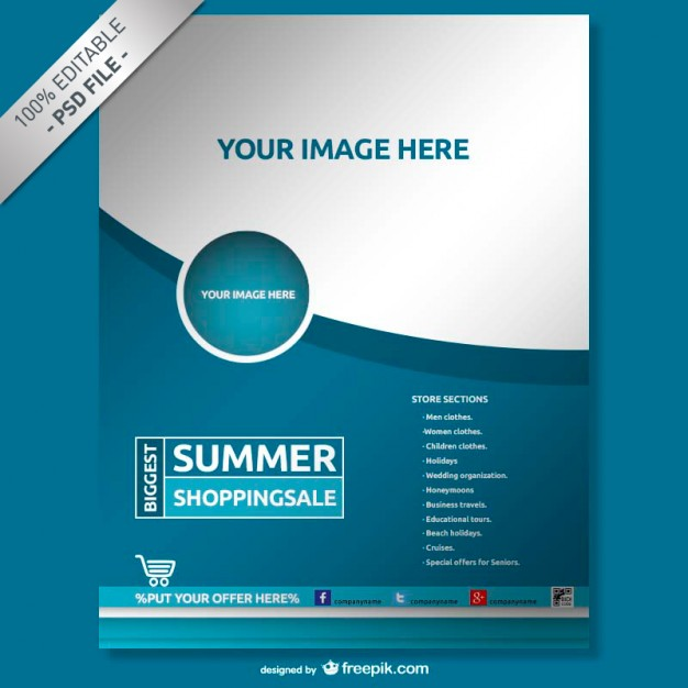 Brochure mock-up free template