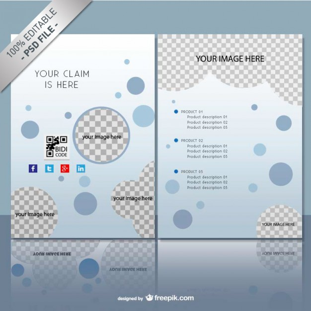 Brochure mock up template free PSD