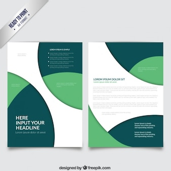 Brochure template with green circles