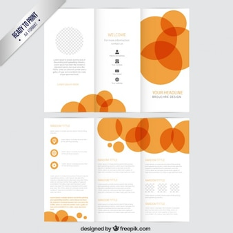 Brochure template with orange circles