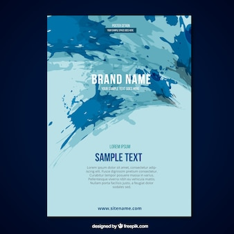 Brochure template with splashes