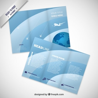 Brochure with airplane