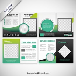 Brochure with circles and squares