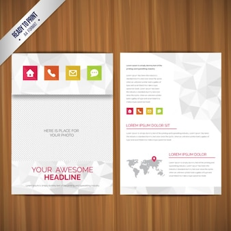 Brochures with polygons