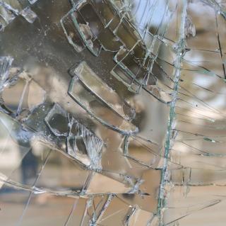 Broken glass  shattered  broken