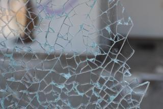 Broken glass  shattered  sharp