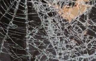 Broken glass  glass