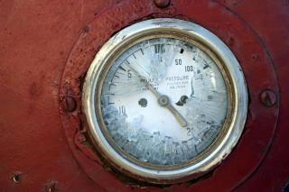 Broken oil meter, broken