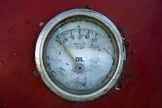 Broken oil meter