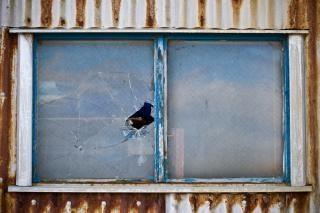Broken window, paint