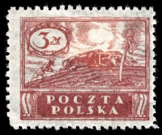 Brown agricultural stamp