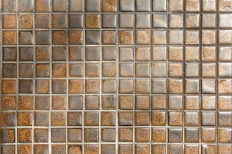 Brown mosaic wall background