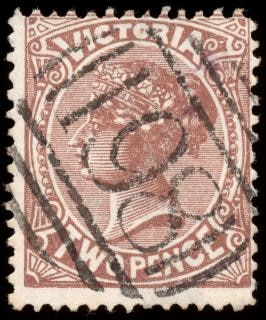 brown queen victoria stamp