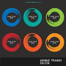 Brush art frames vector