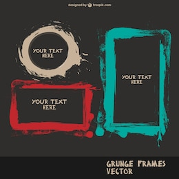 Brush splatter frames vectror