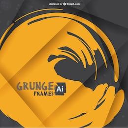Brush stroke grunge frame