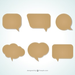 Bubble speech cut-out