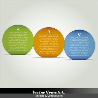 Bubbles colorful infographic options