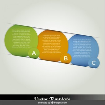 Bubbles infographic options in diagonal