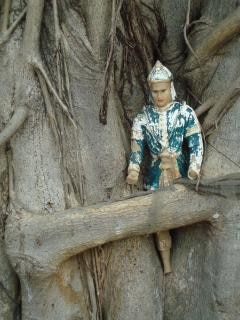 Buddhist icon in a tree