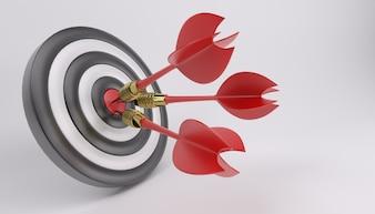 Bullseye with three darts