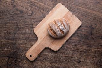 パン古い木製キャンバスローフ