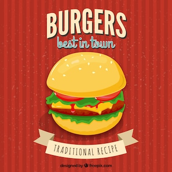 Burger restaurant poster