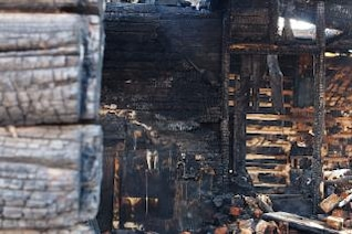 burnt house, protection