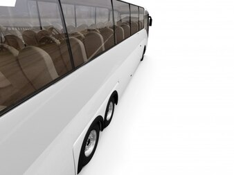 Bus in realistic style