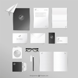 Business and office mock-up vector set