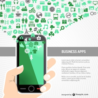 Business app free vector