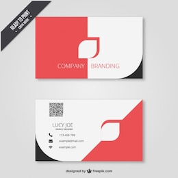 Business card in modern design