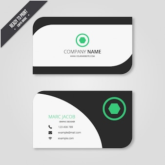 Business card in modern style