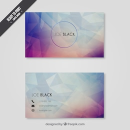 Business card in polygonal style