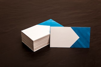 Business card stack mockup