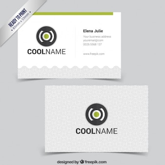 Business card with flat design logo