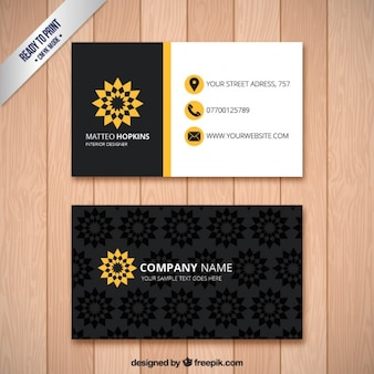Business card with floral print