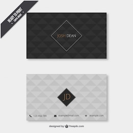 Business card with geometrical pattern