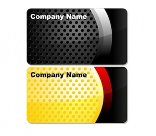 business cards with dotts template set