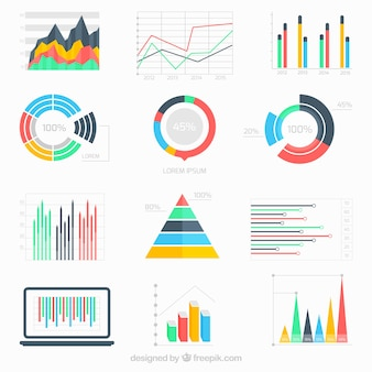 Business data infographic