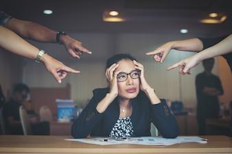 Business emotional female portrait human