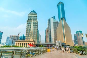 Business financial floor shanghai futuristic modern